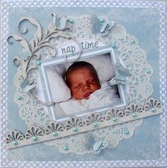 Baby Themed Scrapbook Layouts   12X12 layouts   Scrapbooking Ideas   Creative Scrapbooker Magazine #baby #scrapbooking #12X12layout
