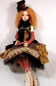 Miss Polly had a dolly.... Wonderful doll art by Dollstown Daisy