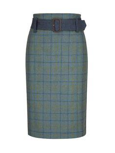 Arrowgrass Knee Length Tweed Skirt