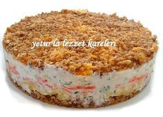 A delicious salad of Russian cuisine I learned from our bride Jane. … Vejeteryan yemek tarifleri – The Most Practical and Easy Recipes Best Appetizers, Appetizer Recipes, Salad Recipes, Snack Recipes, Cooking Recipes, Snacks, Turkish Salad, Turkish Recipes, Ethnic Recipes