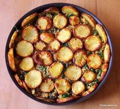 Zdrowo zakręcona: Zapiekanka ziemniaczana z kaszą jaglaną, pieczarkami i szpinakiem