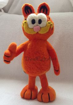 Needle Felted Garfield