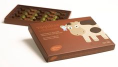 too cute to eat cow shaped chocolates.