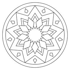 free printable mandala coloring pages - Free Simple Coloring Pages