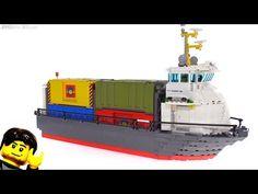 Custom LEGO Container Ship MOC rebuild / hull transplant! - YouTube Lego Plane, Lego Boat, Lego Kits, Lego Trains, Lego Worlds, Custom Lego, Lego Instructions, Cool Lego, Lego Ideas