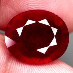 12.53Ct.16.1x13.7mm. Ravishing! Natural Ruby Oval Facet Top Blood Red Madagascar #Gemnatural