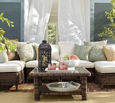 Build Your Own - Torrey All-Weather Wicker Sectional Components | Pottery Barn