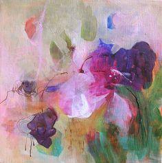 Fuchsia original abstract painting by Paulina722 on etsy