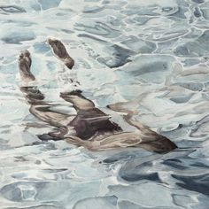 Kai Fine Art is an art website, shows painting and illustration works all over the world. Watercolor Water, Watercolor Artwork, Watercolor Portraits, Watercolor Landscape, Landscape Paintings, Underwater Images, Underwater Painting, Painting People, Figure Painting