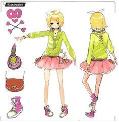 Hatsune Miku, Kaito, Kagamine Rin And Len, Vocaloid Characters, Character Outfits, Touken Ranbu, Mobile Wallpaper, Kawaii Anime, Art Reference