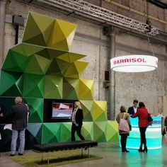 3D shapes & Backlit Bar and Signage @barrisol #SID15. Great display of the potential of their product.