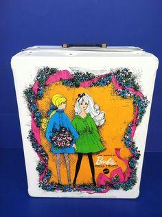 Mod Barbie c. 1968 The World of Barbie Doll Trunk White   eBay
