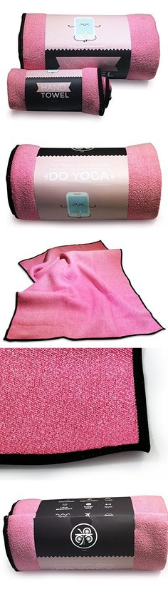 Pink MKRI Yoga & Hand Towel Set | Skidless & Ultra Absorbent Microfiber Towels