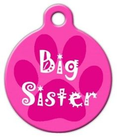 Big Sister - Custom Pet ID Tag for Dogs and Cats - Dog Tag Art >>> Find out more about the great product at the image link.