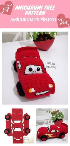We continue to provide you with the latest recipes related to Amigurumi. Amigurumi classic car free crochet pattern is waiting for you. Amigurumi Toys, Crochet Patterns Amigurumi, Crochet Toys, Crochet Stitches, Free Crochet, Learn To Crochet, Free Pattern, Classic Cars, Ruby Red