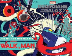"""Check out new work on my @Behance portfolio: """"Sony Walkman Advertorial // Guardians of the Galaxy"""" http://be.net/gallery/51885149/Sony-Walkman-Advertorial-Guardians-of-the-Galaxy"""