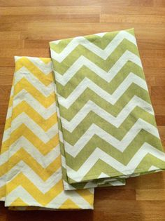 Chevron Kitchen Towel Set pick any 2 colors by WildandWonderuffle, $15.00