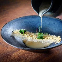 """2,419 Likes, 9 Comments - Linking the Culinary World (@cookniche) on Instagram: """"Porcini cream soup, smoked cheese, truffle oil by Chef  Fülöp Zoltán @zoltan88.fulop by…"""""""