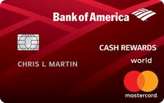 Credit Cards that give Rewards - Bank of America® Cash Rewards Credit Card is issued by the the Bank of America. The Bank of America® Cash Rewards credit Bank Of America, Rewards Credit Cards, Best Credit Cards, Credit Score, Chase Credit, Build Credit, Credit Card Transfer, Interest Calculator, Credit Card Application