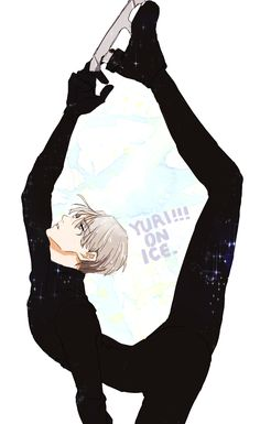 I CANT be the only one wishing I was this flexible...right? Lolol.   Viktor Nikiforov | Yuri!!! on Ice