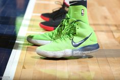 News Photo : Sneakers of Karl-Anthony Towns of the Minnesota...