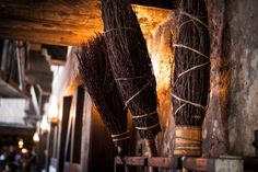 """""""Inside the Three Broomsticks Restaurant, on the right side are three brooms hanging on a wall. The one at the far left was used in the movies. The restaurant itself was designed first for the theme park and then copied on a set for the latest movie."""" -  Courtesy of ABC News:  Seven Secrets Behind Universal's Harry Potter Ride  It's amazing how strong the nerd mind can be.  I remember hearing that little fun fact a few years ago.  So when I was working on my book last year, I made a point…"""