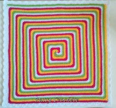 Couverture BB Giant Granny spirale berlingot