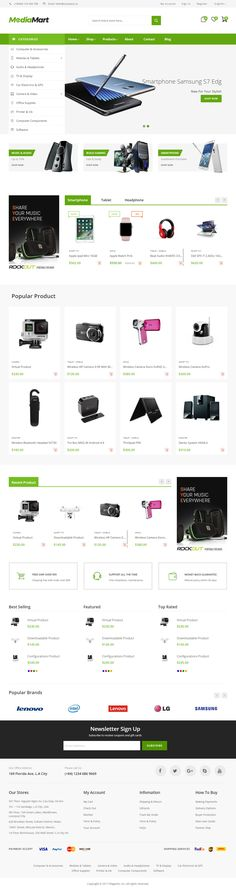 MediaMart is Premium full Responsive #Magento2Theme. Bootstrap 3 Framework. If you like this #eCommerce Theme visit our handpicked list of best Magento #Supermarket Themes at: http://www.responsivemiracle.com/best-responsive-magento-supermarket-theme/