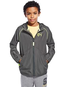 Hooded Sports Jacket (5-14 Years) | M&S