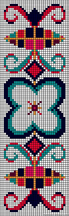 Worki mochilla i wayuu Seed Bead Patterns, Beading Patterns, Embroidery Patterns, Cross Stitch Bookmarks, Cross Stitch Embroidery, Cross Stitch Patterns, Mochila Crochet, Crochet Bags, Tapestry Crochet Patterns