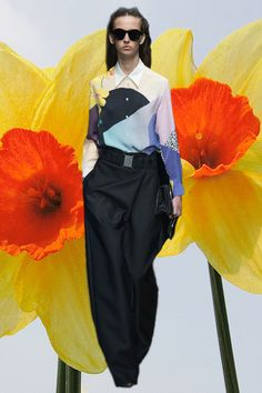 3.1 Phillip Lim AW14 Japanese floral GIF, NYFW. More images here: http://www.dazeddigital.com/fashion/article/18854/1/new-york-aw14-gifs