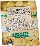 Michel et Augustin Sablés Apéritifs au Beaufort/Pointe de Poivre 100 g - Lot de 3