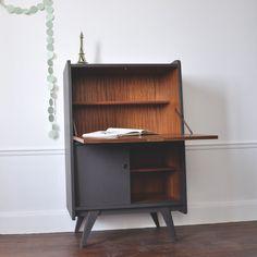 secretary, storage, desk, mid century modern, vintage, 60s | mid ... - Meuble Secretaire Design