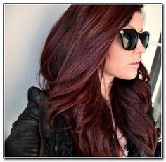 Dark Auburn Hair Color Ideas | Dark Auburn Hair Color With Highlights in Hairstyles