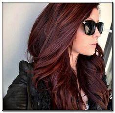 Dark Auburn Hair Color Ideas | Dark Auburn Hair Color With Highlights in Hairstyles