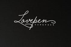 Lovepen Typeface by alphadesign on @creativemarket