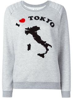 Shop Zoe Karssen Tokyo patch sweatshirt  in Divo from the world's best independent boutiques at farfetch.com. Shop 300 boutiques at one address.