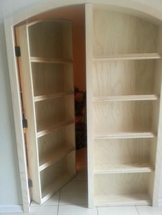 Batman bookcase to hide a room... I would love to do this as Josh's bedroom door