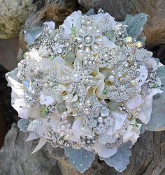 in love with brooch bouquets