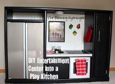 DIY Entertainment Center Into a Play Kitchen