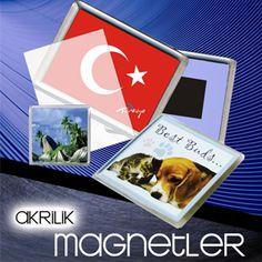 Akrilik magnetler, şeffaf akrilikten bir muhafaza içine yerleştirilen resimler şeklindedir. www.magnettoptan.com