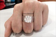 Round diamond ring 7.08 carat/Icolor/VVS1