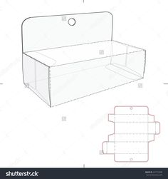 Box With Header Panel Hanger And Die Cut Template Stock Vector Illustration 247772308 : Shutterstock