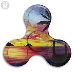 Tri Spinner Spinner Fidget Toy Fidget Sunset Beach Stress Free Boredom - Fidget spinner (*Amazon Partner-Link)