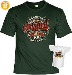 Original seit 65 Jahren : Jahrgangs/ Geburtstags/Fun/Spaß-Shirt-Set inkl. Mini-Shirt/Flaschendeko - geniale Geschenkidee (*Partner-Link)