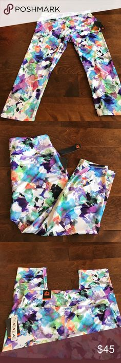 RBX workout Capris Sz XL Brand new Capris with tags Great for gym yoga or any athletic or workout sessions. 88% polyester 12% spandex. RBX Pants Track Pants & Joggers