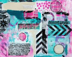 Documented Life Art Journal Page by Mary C. Nasser using stencils from StencilGirl.
