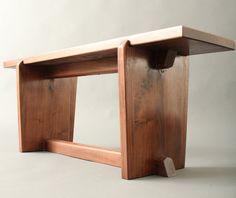 Walnut Bench Nakashima Mid Century Japanese Style by MadeByGideon, $750.00
