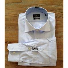 Blue stripe slim-fit shirt on vcg-casualwear.nl