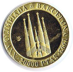 Moneda de oro 20.000 Pesetas Barcelona 92. 1990, Tienda Numismatica y Filatelia Lopez, compra venta de monedas oro y plata, sellos españa, accesorios Leuchtturm